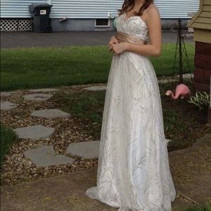 Beautiful white prom dress